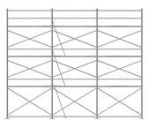 建設足場の 3 d レンダリング — ストック写真
