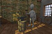 3d render of cartoon character in blacksmith — Стоковое фото