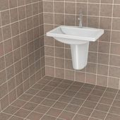 3d render of bathroom tiles — Stock Photo