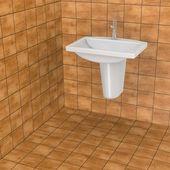 3d render of bathroom tiles — Stock Photo