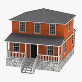 3d render of US house — Stock Photo
