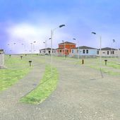 3d render of US village — Stock Photo