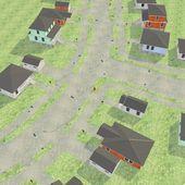 3d render of US village — Stock Photo