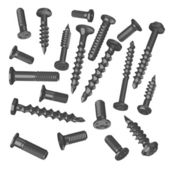 3d render of screws collection — Stock Photo