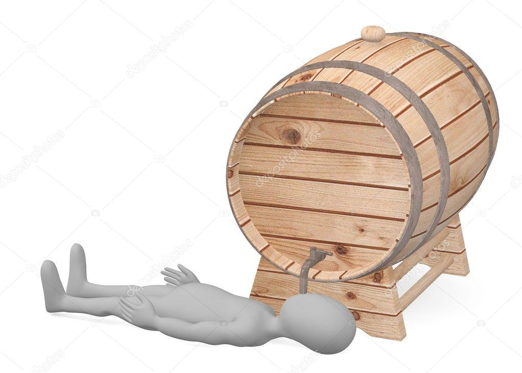 rendu 3d du personnage de dessin anim avec tonneau en bois photographie 3drenderings 10704847. Black Bedroom Furniture Sets. Home Design Ideas