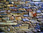 Abstract wall stone blue — Stock Photo