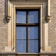 Old window medieval — Stock Photo