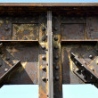 Railway bridge - riveted joints — Stock Photo
