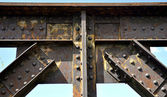Railway bridge - riveted joints — Stock Photo