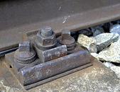 Mounting rails old corrod — Stock Photo