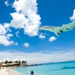 Airplane Beach - Stock Photo
