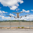 Royalty-Free Stock Photo: Direct Airplane Landing