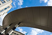Brussels Spiral Train Rail roof — Stock Photo