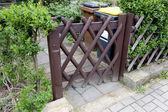 木栅栏门 — 图库照片