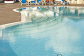 Curvy Poolside — Stock Photo