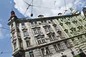 Electrical Prague Buildings — Stock Photo