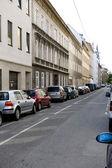 European narrow roadway — Stock Photo