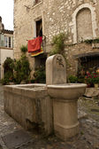 Medieval French Fountain — Stock Photo