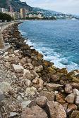Monaco Principality Coastline — Stock Photo