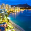 Waikiki  beach in Honolulu, Hawaii. - Stock Photo