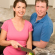 Cooking Couple — Stock Photo