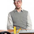 Funny Office Worker — Stock Photo