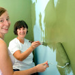 Mother and Daughter Painting. — Stock Photo