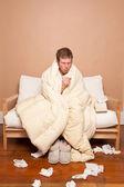 Uomo malato — Foto Stock