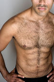 Hairy Muscle Guy — Stock Photo