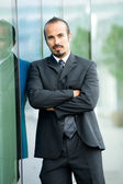 Serious Hispanic Businessman — Stock Photo