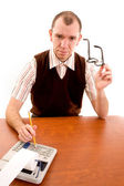 Serious looking accountant — Stock Photo