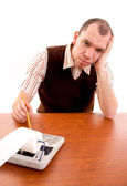 Frustrated Office worker. — Stock Photo