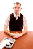 Serious office worker. — Stock Photo