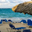 Stock Photo: Sunrise Beach Chairs