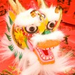 Chinese New Year Dragon on red envelopes. — Stock Photo