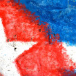 Abstract Cuban Flag Detail — Stock Photo
