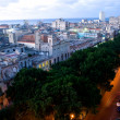 Night lights of Consulado Street, Havana, Cuba - Stock Photo