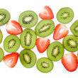 Royalty-Free Stock Photo: Kiwi Fruit and Strawberry Slices