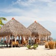Stock Photo: Massage Huts, PlayBlanca, Panama