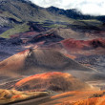 Lunar landscape of Haleakala Crater - Maui, Hawaii — Stock Photo #10272174