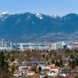 Vancouver, Canada flanked by Mountains — Stock Photo
