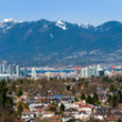 Vancouver, Canada flanked by Mountains — Stock fotografie #10272673