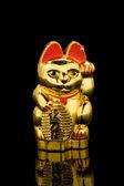 Lucky Gold Cat (China) — Stock Photo