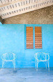 Wire Chairs, Vinales, Cuba — Stock Photo
