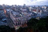 Dusk Havana city block, Cuba — Stock Photo
