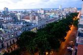 Nacht lichten van consulado street, havana, cuba — Stockfoto
