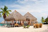 Massage Huts, Playa Blanca, Panama — Stock Photo