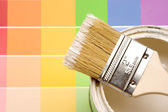 Paint and Color Strips — Stock Photo