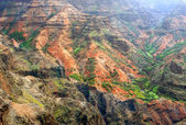 Colorful rock strata of Waimea Canyon - Kauai, Hawaii — Stock Photo