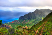 Kalalau Lookout, Kauai, HI. — Stock Photo